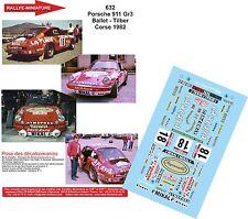 DECALS 1/24 REF 632 PORSCHE 911 BALLET TOUR DE CORSE 1982 RALLYE RALLY WRC