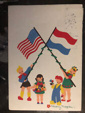 1946 Netherlands PostCard Cover Thank You USA Child For Liberation from Nazis