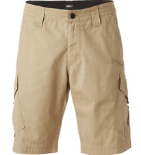 FOX RACING MENS SLAMBOZO CARGO SHORTS DARK KHAKI CANVAS MX sizes 30 32 34 36 38