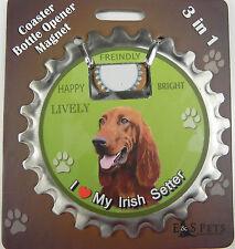Irish Setter dog coaster magnet bottle opener Bottle Ninjas magnetic