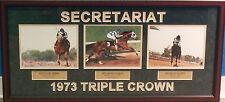 Ron Turcotte Secretariat Triple Crown Derby Belmont Preakness Framed Collage
