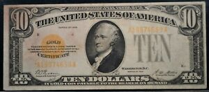 1928 $10 GOLD CERTIFICATE Fr. #2400 PCGS VERY FINE 20 INTEGRITY OF VERY CHOICE