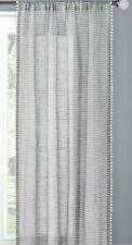 "Threshold Pom Pom Stripe Window Sheer Gray 54"" x 108"" NWOP"