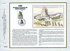 FEUILLET CEF / DOCUMENT PHILATELIQUE / 1° ASCENSION DU MONT AIGUILLE 1992