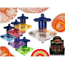 1 x Spinning Top LED Light Game Toy Party Retro Classic Educational Colourful