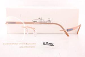 New Silhouette Eyeglass Frames Blend 5555 KU 3538 Rose Dove Titanium 55mm