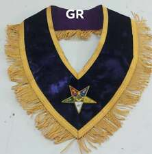 WORTHY COLLAR  MATRON  O.E.S  HAND-EMBROIDERED