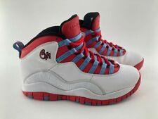 Nike Air Jordan 10 Retro- Mens- Size 7- Chicago- White Red- [310805-114]- Basket
