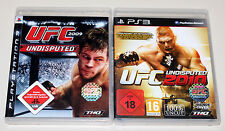 2 PLAYSTATION 3 giochi Set-UFC Undisputed 2009 & 2010