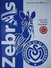 Programm 2002/03 MSV Duisburg Am. -  Fortuna Düsseldorf