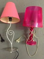 LAMPE ROSE CHAMBRE FILLE, GIRLY !