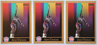 1990-91 SKYBOX BASKETBALL Isiah Thomas (3x) Card Lot NM #93 Detroit Pistons HOF