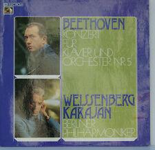 "BEETHOVEN CONCERTO POUR PIANO NR. 5 WEISSENBERG KARAJAN BERLINER PHILH. 12"" LP"