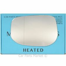 Left Passenger side Wide Angle Wing mirror glass for Honda Jazz 2008-2015 heated