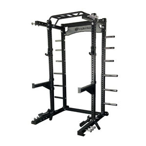 Power Rack Commercial Half Squat Cage Machine 75mm Heavy Duty Garage Home Gym