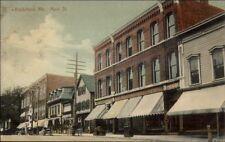 Biddeford ME Main St. c1910 Postcard