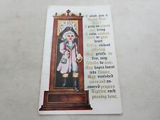EMBOSSED NEW YEARS TALL CLOCK COLONIAL MAYFLOWER OLD POSTCARD