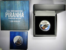 2013 1oz REAL RIVER MONSTERS .999 FINE SILVER PIRANHA NEW ZEALAND -PRICED RIGHT!