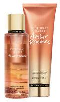 New! Victoria's Secret AMBER ROMANCE Gift Set Body Mist & Body Lotion Full Size