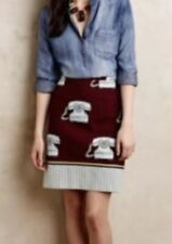 10. Maeve Clementina Telephone Pencil Skirt 8P Anthropologie