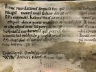 12th Or 13th Century Medieval Vellum Manuscript From English Monastery