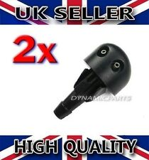 RENAULT CLIO MK2 FRONT WINDSCREEN WASHER NOZZLE WATER SPRAY JET (X2)