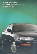 Toyota IAA 1991 Prospekt Supra MR2 Camry Celica Previa Auto PKWs Japan Broschüre