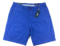 """Vineyard Vines Men's Breaker Shorts Size 36 Cotton Linen Blend 9"""" Bluebell Blue"""