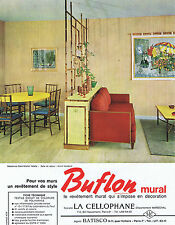 PUBLICITE ADVERTISING 054 1964 BUFLON revêtement mural