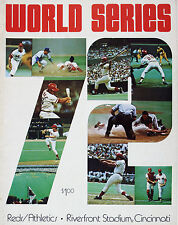 CLASSIC 1972 REDS VS ATHLETICS WORLD SERIES  PROGRAM PHOTO  8x10