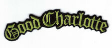 GOOD CHARLOTTE GREEN LOGO EMBROIDERED PATCH !