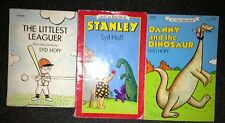 3 Sid Hoff Paperback Books Danny and the Dinosaur The Littlest Leaguer Stanley