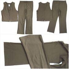 Weekenders Women 2 pcs Ensemble Tops Zippered Vest and Relax Pants Green Sz M