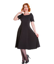 HELL BUNNY BIANCA DRESS 50s vintage style PARTY cocktail occassion BLACK BLUE