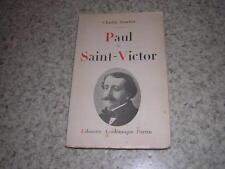 1937.Paul Saint-Victor / Beuchat.bon ex.non coupé.littérature