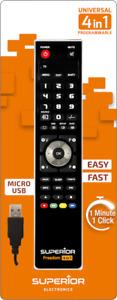 PC Programmierbare Universalfernbedienung micro-USB Superior Freedom für 4geräte