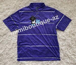 PGA Tour Men Performance Golf Polo Shirt Short Sleeve Top Purple Liberty Heather