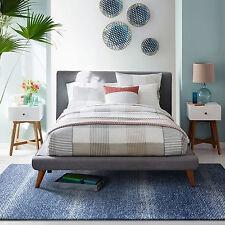 Navy Blue Ivory Floor Rug Stripe Texture Super Soft Modern Carpet 155*225CM