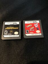 2 Nintendo DS Games, Need For Speed Undercover And Uno/Uno Freefall/ Skip-Bo