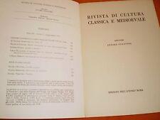 rivista di cultura classica e medievale  2,72