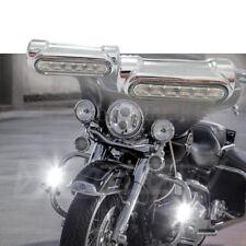 "Harley Highway Bar LED DRL Turn Signal Switchback Chrome Set fits 1.25"" Bars"