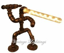 Vintage Industrial Style Retro Hand Made Pipe Desk Lamp Table Lamp Steampunk New