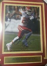 Jamaal Charles #25 Kansas City Chiefs signed plaque +coa