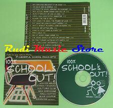CD 100% SCHOOL'S OUT! compilation ALICE COOPER KINKS HUEY LEWIS (C17) no mc lp
