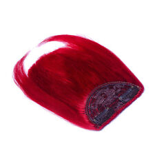"""New 8"""" Human Hair Clips In Extensions Front Bang Fringe More Colors 20g/pcs"""
