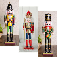 3x 30cm Wooden Soldier Nutcracker Puppets Doll Figurine Christmas Decoration