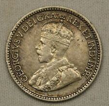 1912 5 Cents Canada George V Silver Coin High Grade Nice Look!