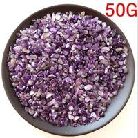 50g Natural Mini Amethyst Purple Point Quartz Crystal Stone Rock Chips Healing 9