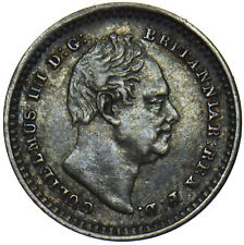 More details for 1834 threehalfpence - william iv british silver coin - nice