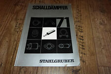 Acier Gruber Silencieux Catalogue 1971 par exemple BMW, Porsche, Daimler Benz, etc.